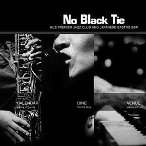 No Black Tie: website design