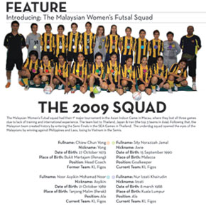 Futsal magazine layout